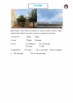 Interactive worksheet La météo