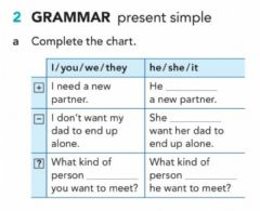 Interactive worksheet Present simple pre-teach