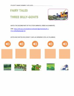 Interactive worksheet Three billy goats