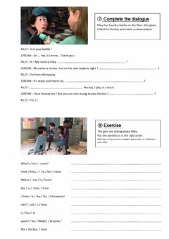 Interactive worksheet Dialogue to Introduce yourself or someone