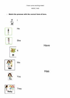 Interactive worksheet I have some exciting news!