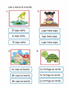 Interactive worksheet La oración