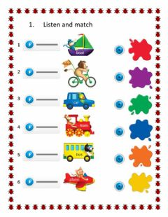 Interactive worksheet Means of transport
