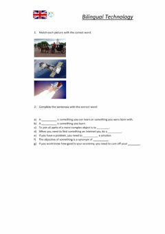 Interactive worksheet Project Planning 1