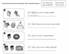Interactive worksheet Do-does