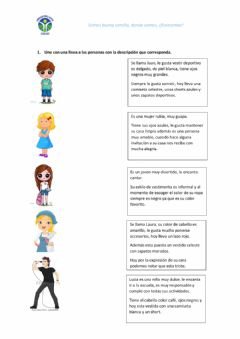 Interactive worksheet Descripción de personas