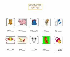 Interactive worksheet Vocabulario de la ch