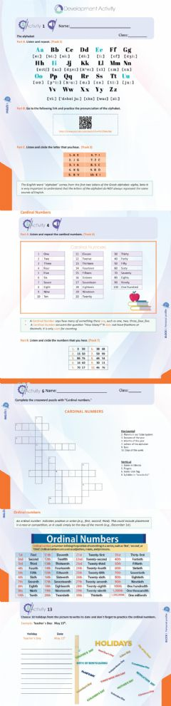 Interactive worksheet Numbers and dates