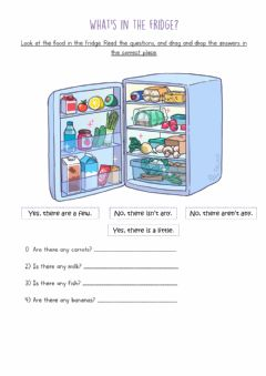 Interactive worksheet What's in the fridge?