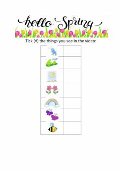 Interactive worksheet Spring is here