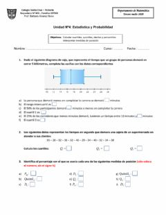 Interactive worksheet Estadística