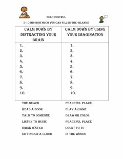 Interactive worksheet Self control
