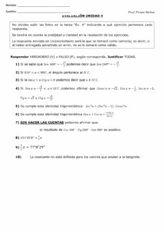 Interactive worksheet Trigonometría 6to año