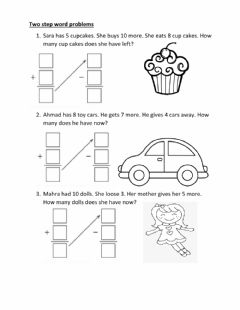 Interactive worksheet Two step word problems