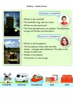 Ficha interactiva Reading - Holiday Homes (rooms)