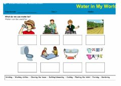 Interactive worksheet Global Perspectives - The usage of water