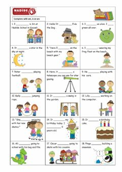 Interactive worksheet to be (am, is, are)