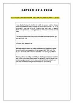 Interactive worksheet Review of a film
