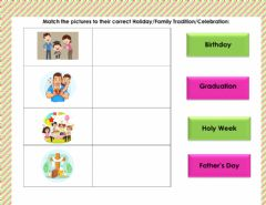 Interactive worksheet Holidays & Celebrations