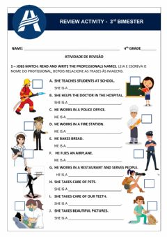Interactive worksheet Review Activity - Unit 3 4th Grade