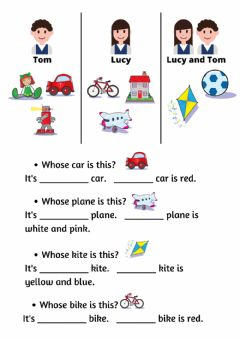 Interactive worksheet Whose toy is this?