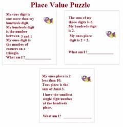 Interactive worksheet Place Value Puzzle