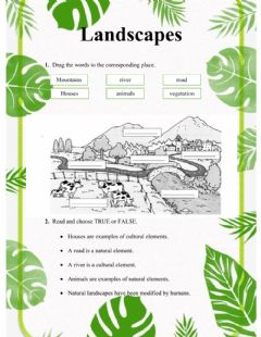 Interactive worksheet Natural and cultural landscapes