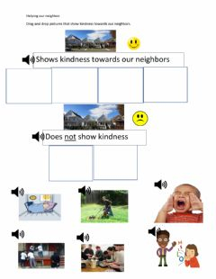 Ficha interactiva How to show kindness to a neighbor