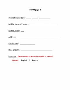 Interactive worksheet Personal Info -- Form (cont'd page 2)