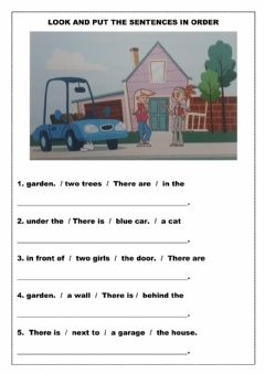 Interactive worksheet Look and put the sentences in order.