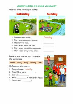 Interactive worksheet Our Green Day Vocabulary