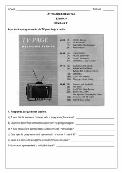 Interactive worksheet Etapa V - Semana 21