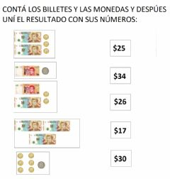 Interactive worksheet Billetes