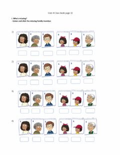 Interactive worksheet Who's missing?
