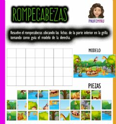 Interactive worksheet Rompecabezas