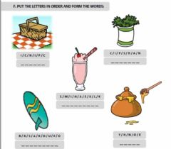 Interactive worksheet Put the letters in order