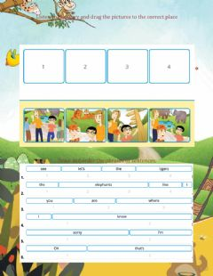 Interactive worksheet Practice: Story-Where's Danny?