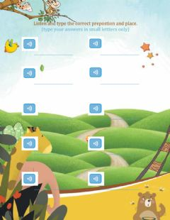 Ficha interactiva Practice: Prepositions and places