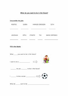 Interactive worksheet What do you want to be in the future?