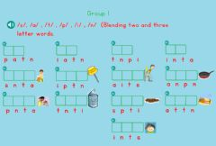 Ficha interactiva Phonics Group 1 (Blending)