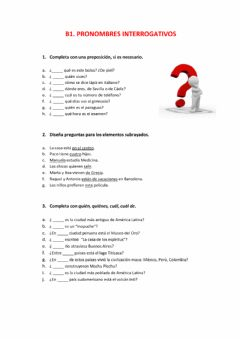 Interactive worksheet B1. Interrogativos