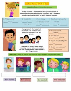 Interactive worksheet Test Review W1-4