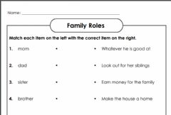 Interactive worksheet Family Roles