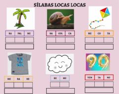 Interactive worksheet Sílabas locas