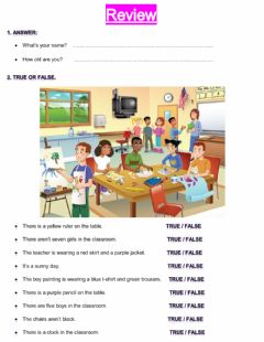 Interactive worksheet Review: 1st Grade