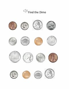 Interactive worksheet Find the dime