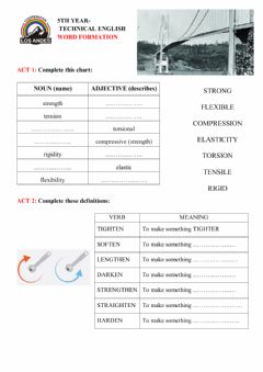 Interactive worksheet Materials word formation