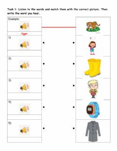 Ficha interactiva Starters practice: Reading part 4 - Clothes vocabulary