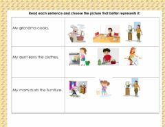 Interactive worksheet House chores