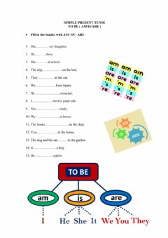 Interactive worksheet Simple Present Tense Verb To Be